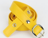 Vegan Belt - Yellow