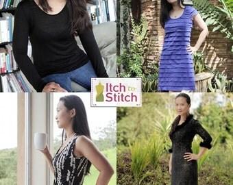 Women's  Idyllwild Top & Dress PDF Sewing Pattern (42 Unique Looks)
