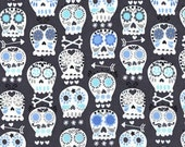 Bonehead in Charcoal - Michael Miller cotton quilt fabric - one yard or by the yard