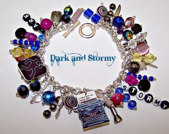 DARK AND STORMY Artisanal Charm Bracelet
