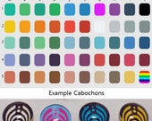 Made to Order - 20mm Custom Bassnectar Cabochons - Pick your size, background and symbol color