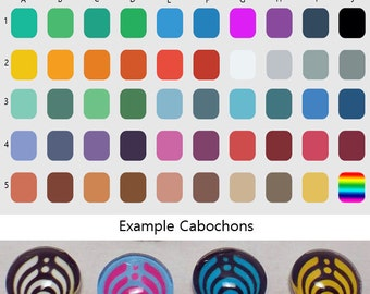 Made to Order - 12mm Custom Bassnectar Cabochons - Pick your size, background and symbol color