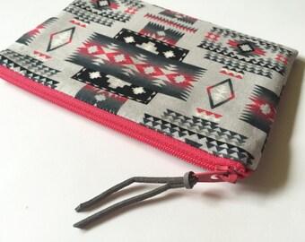 South West - Zipper Pouch - Cosmetics Bag - Clutch