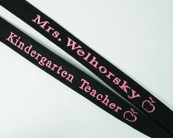 Embroidered Lanyard, Mothers Day Gift, Teacher Gift