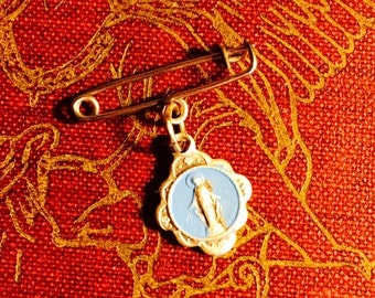 VIRGIN MARY PIN Petite Vintage Italy