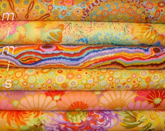 6 half yard bundle, YELLOWS, Phillip Jacobs fabric/  Kaffe Fassett fabric Westminster Fabric Cotton, Quilt Craft and Apparrell fabric