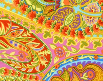 Paisley Jungle in Lime by Kaffe Fassett GP60 Westminster Fabric / 1/2 yard Cotton, Quilt Craft and Apparrell fabric