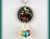 """Jasmine Becket Griffith """"Clockwork Dragonling"""" necklace"""