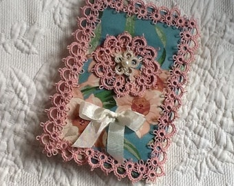 Hand Tatted and Vintage Lace Journal Cover