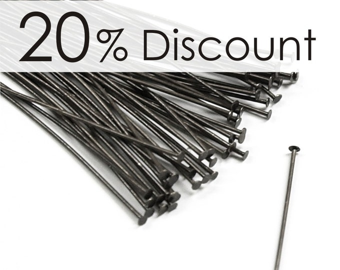 HPBGM-5024 - Head Pin, 2 in/24 ga, Gunmetal - 250 Pieces (5pk)