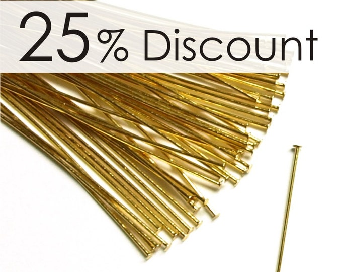 HPBGP-5024 - Head Pin, 2 in/24 ga, Gold - 500 Pieces (10pk)