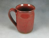 Pottery Coffee Mug Rust Red Ceramic Coffee Mug Coffee Cup 16 Ounce  Hand Thrown Stoneware Pottery 12