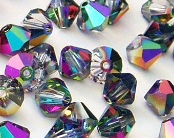 Swarovski Electra Faceted Bicone Crystals 6mm 12 pcs