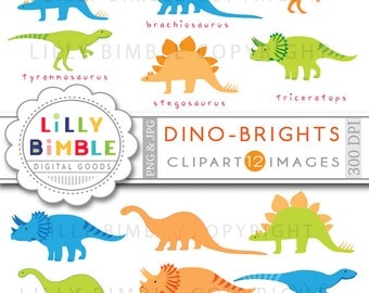 80% off DINOSAUR clipart for boys birthdays invites cards scrapbooking trex digital Download