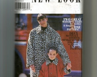 New Look Adult and Child Coat Pattern 6713