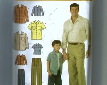 Simplicity Boys' and Men's Pants And Shirt Pattern 4760