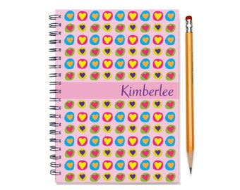 Personalized Planner, 2017 weekly planner, BFF Present, Bridesmaid Gift, Best Friend Present, Personalized Calendar, SKU: pli heart