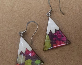 wearables...earrings...wild flower mountains