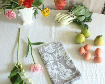 lilypad cotton tea towel. batik printed, hand dyed