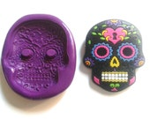SUGARSKULL 35 mm Silicone Mould - Highly Flexible - Sugarpaste, Fondant, Fimo, Icing, Clay, Gumpaste