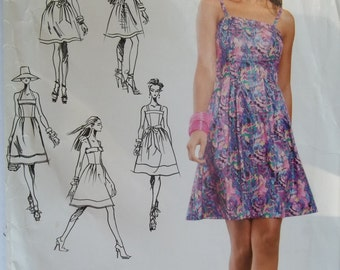 Simplicity 0346 Pattern Project Runway Halter DRESS 2 Lengths Size 4 6 8 10 12