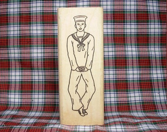 Hornpipe Highland Dancer #2 Rubber Stamp Scottish Dance Heritage