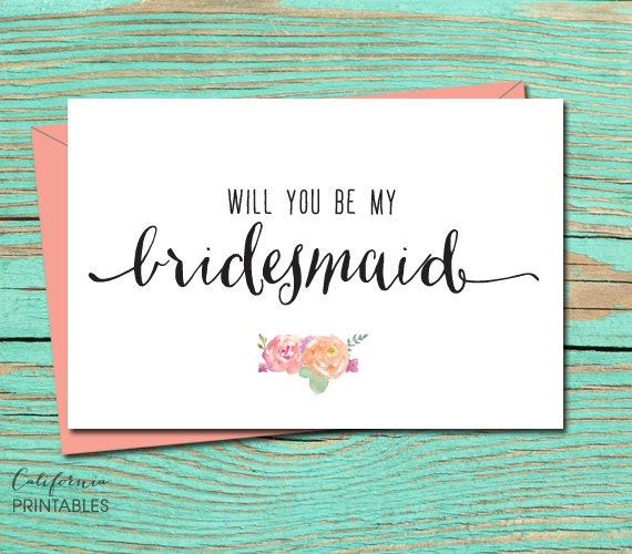 Playful image within printable will you be my bridesmaid