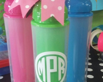 Boutique Monogrammed, Personalized Water Bottle