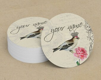 Custom Stickers  Custom Logo Stickers  Personalized Stickers  Product Labels  Adhesive Labels  Return Address Labels  Vintage Bird 9