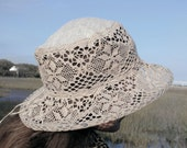 Summer hat, womens hat, linen hat, cotton hat, lace hat, hats for women, sun hat