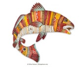 Metal Redfish Trophy Wall Sculpture