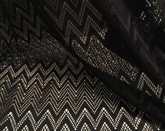 Zig Zag Design Lace  Fabric 1-5/8 Yards
