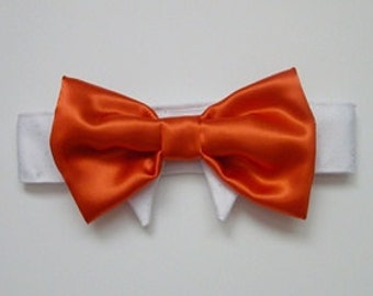 Wedding Dog Bow Tie: ColorTango Tangerine For Your Cat or Dog or Both