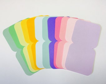 24 Mini Note Cards in Solid Colors