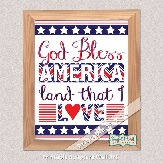 Americana Wall Decor Plaques Signs: Items Similar To God Bless America Sign 4th Of July