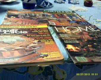 Four vintage magazines on decorating 1977-1983