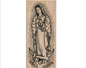 Rubber stamp Our Lady of Guadalupe  Catholic  stamping religious   scrapbooking supplies 5752