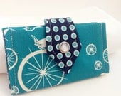 Small Card Wallet Organizer - Bluebird Bicycle - On Sale!