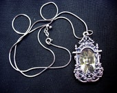 Lovely Vintage Victorian Styled Picture Pendant Necklace on Sterling Silver Chain