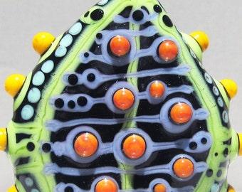 SALE!! Mod Spot Focal--Handmade Lampwork Glass Bead