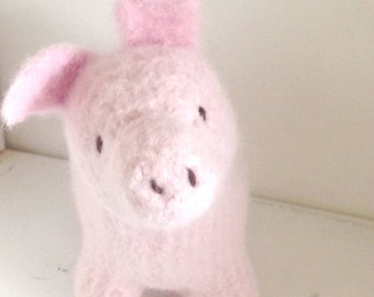 Piggy - Stuffed Animal - Toy - Natural Eco Friendly - Custom Order