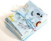 Animal ABCs ORGANIC Fat Quarter Bundle by Alyssa Thomas for Clothworks in Sky