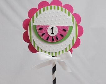 Watermelon Smash Cake Topper- Girl 1st Birthday