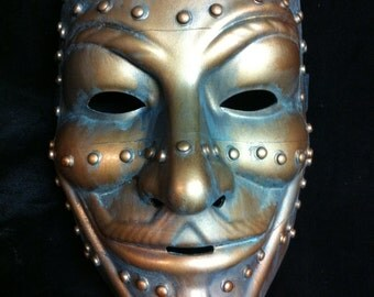 Steampunk Copper V for Vendetta mask Guy Fawkes