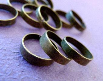 Wholesale 100pcs Antique Bronze Ring Base Blank Findings R4