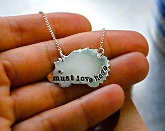 Must Love Hogs Fine Silver Necklace