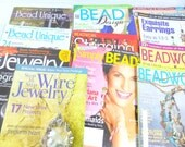 Beadwork, Bead Unique, Wire Jewelry, Art Jewelry, and More - 10 Jewelry Making Magazines - Back Issues