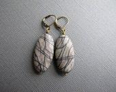 Anna. Large Gemstone Earrings, Picasso Jasper Dangle Earrings, Boho Jewelry, Gift for Her