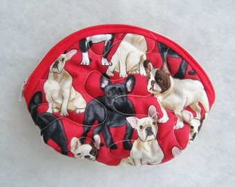 Small Quilted Purse - Frenchies french bulldog