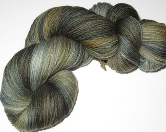 Hand Dyed Luxury Merino/Nylon/Cashmere MCN Sock Fingering Yarn -- Wraith